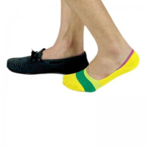 Corty Solid Chrome Loafer Socks