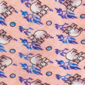 Pink with Hippo Motif Regular 100% Silk Necktie