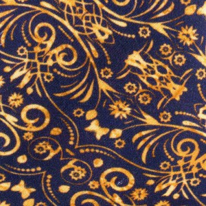 Grosgrain Geo Blue and Gold 100% Silk Necktie