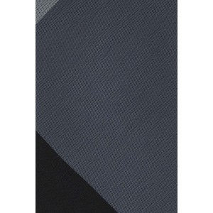 Muticolor Solid Black And Grey Silk Necktie