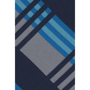 Sunrise Blue And Grey Plaid Silk Necktie