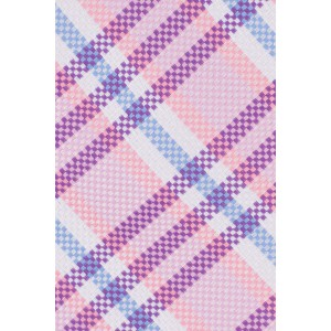 Ramble Purple And Pink Plaid Silk Necktie