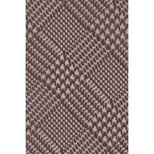 Wool Plaid Brown Silk Necktie