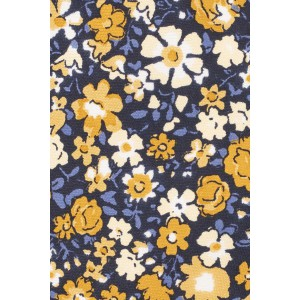 Alfresco Blue and Yellow Floral 100% Silk Necktie