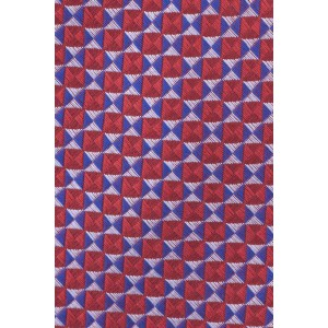 Market Geometric Red and Blue 100% Silk Necktei