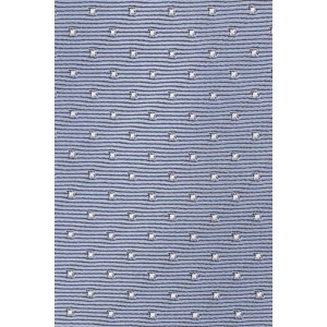 Free Fall Polka Blue 100% Silk Necktie