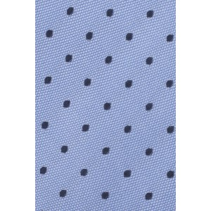 Smooth Polka Blue 100% Silk Necktie