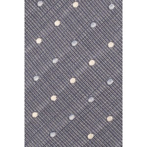 Road Line Grey with Multi Polka 100% Silk Necktie