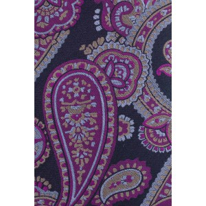Tailored Paisley Purple 100% Silk Necktie