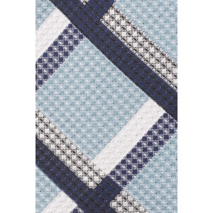Stat Plaid Sky Blue 100% Silk Necktie