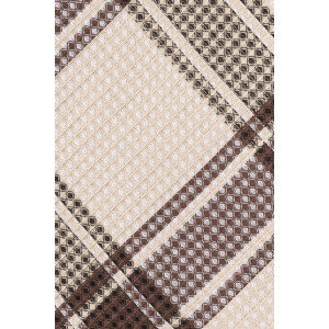Wingman Plaid Brown 100% Silk Necktie