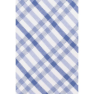 Jet Plaid Sky and Blue 100% Silk Necktie