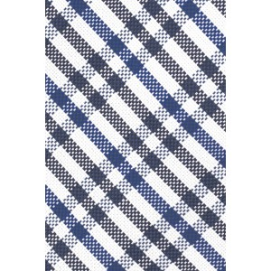 West Village Plaid Black and Blue 100% Silk Necktie