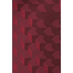 Aisal 3D Print Red and Maroon 100% Silk  Necktie