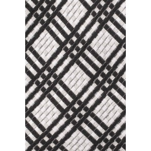 Check Mates Black and White 100% Silk Necktie