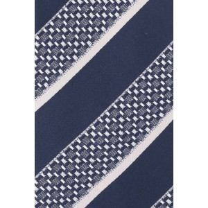 Super Stripe Blue Aand Grey 100% Silk Necktie