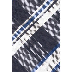 Reprint Plaid Blue 100% Silk necktie