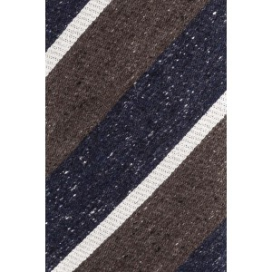 Derby Lane Brown And Blue 100% Silk Necktie
