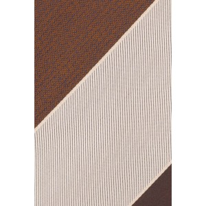 Cream And Brown Stripe Silk Necktie