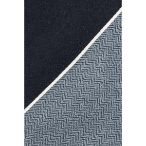 Navy Blue Striped 100% shantung Silk Necktie