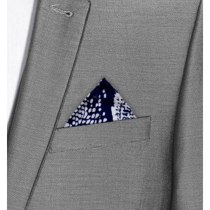 Spotload Reversible printed and solid Silk Pocket square