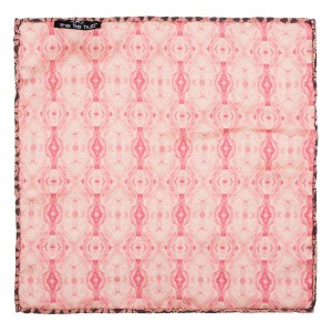 Flower Network Pink Silk Reversible Pocket Square