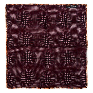 Sound waves Maroon Silk Reversible Pocket Square