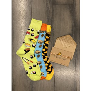 The Bhukkad Bhai Rakhi with 3 pairs of Socks Combo