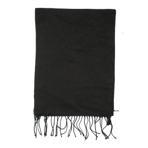 Solid Black Scarve by The Tie Hub