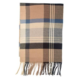 West Town Plaid Beige Scarve By the Tie Hub