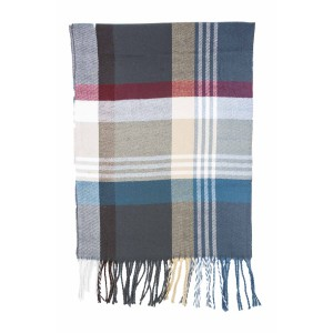 West Town Plaid Blue Scarve By the Tie Hub