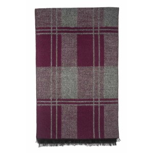 West Loop Maroon Plaid Scarve by The Tie Hub