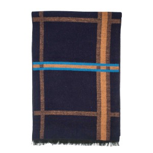 Grit Plaid Navy Scarve by The Tie Hub