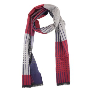 Ambit Gred and Maroon Reversible Scarf by The Tie Hub