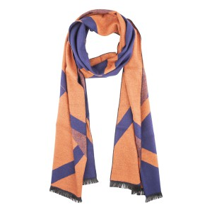 Porter Blue and orange Reversible Scarve by The Tie Hub