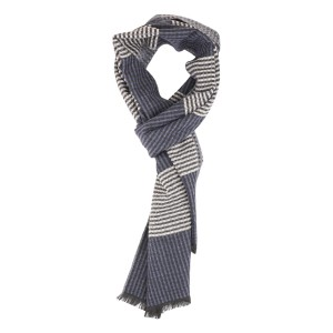 Liam Black and Grey Scarf by The Tie Hub