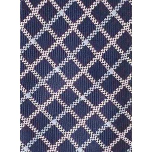 Tarten Blue Plaid Slim 100% Silk Necktie