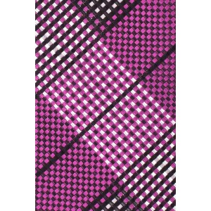 Purple and White Plaid Slim 100% Silk Necktie