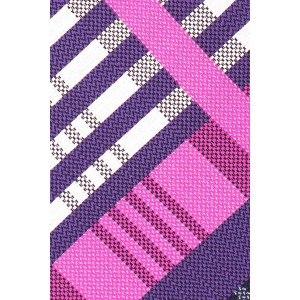 Pink And Purple Plaid Slim 100% Silk Necktie
