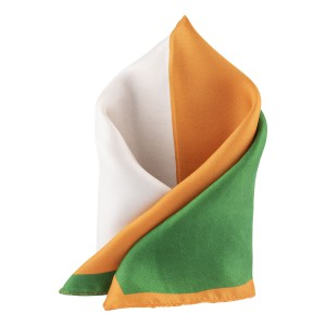 Tri Color 100% Silk Pocket Square