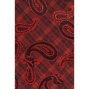 Offshore Paisley Red Skinny Necktie by The Tie Hub