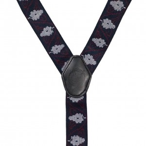 Editor Geo - Navy Y Back Suspender