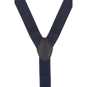 Infinite Checked Blue Y Back Suspender