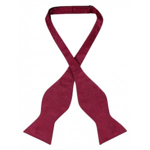 Solid Deep Red Self Tie Bow Tie