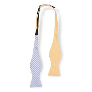Pinwheel Yellow Reversible Silk Self Tie Bow Tie