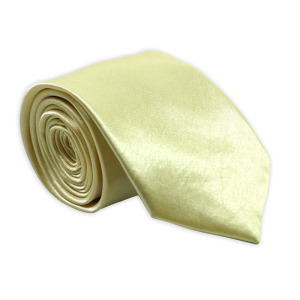 Stanley Solid - Golden Yellow Satin Slim Neck Tie