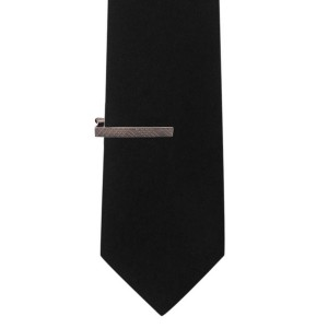 Criss Cross Gun Metal Tie Bar