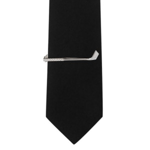 Wedge Silver Golf Club Tie bar