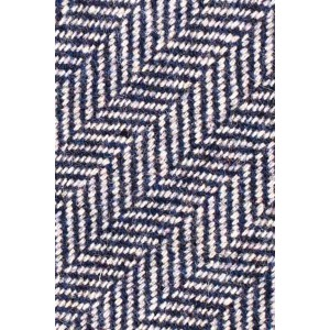 Ridge Herringbone Blue Woolen Neck Tie By The Tie Hub