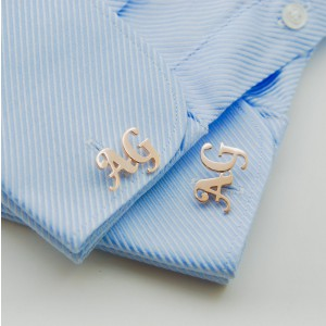 Customised 2 letter initial cufflinks